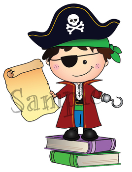 Clipart Pirate Learning Adventures {Lilly Silly Billy}