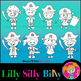 Clipart Pirates BLACK AND WHITE & Color Deluxe Set {Lilly Silly Billy}