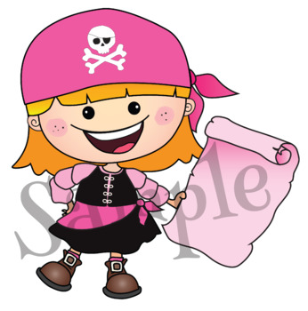 Clipart Pirate Treasures {Lilly Silly Billy}
