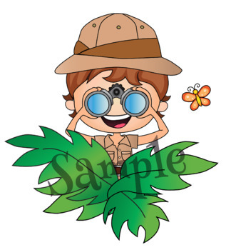 Clipart Safari Kids {Lilly Silly Billy}