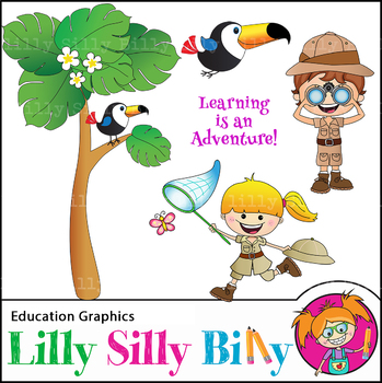 Clipart Safari Rain Forest {Lilly Silly Billy}