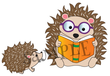 Clipart Woodland Animals Reading {Lilly Silly Billy}