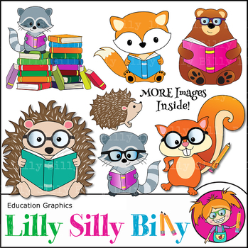 clipart woodland animals reading lilly silly billy by lilly silly