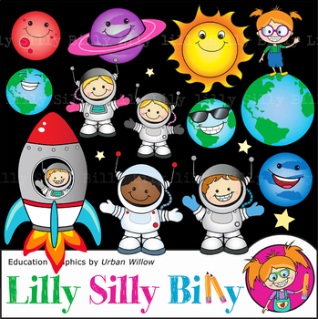 Clipart Outer Space {Lilly Silly Billy}