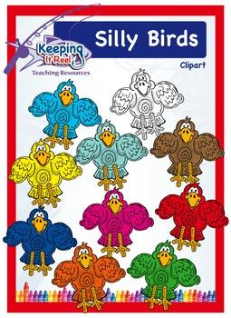 Silly Birds Clipart