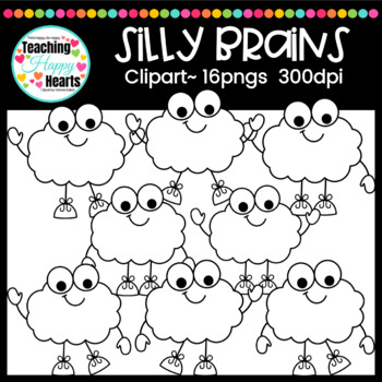 Silly Brains Clipart