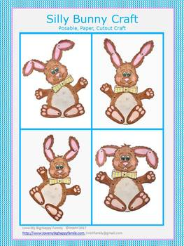 Silly Bunny - Posable, Paper, Cutout Craft