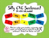 Silly CVC Sentences Center Game