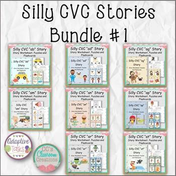 Silly CVC Stories Bundle #1