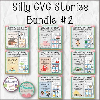 Silly CVC Stories Bundle #2