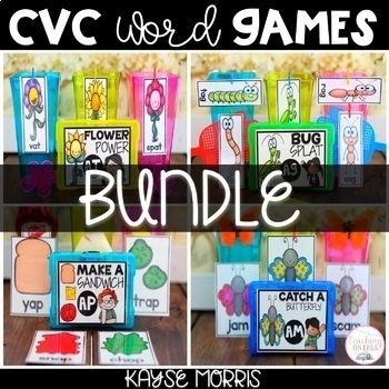 Silly CVC Word Games BUNDLE (Editable)