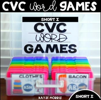 Silly CVC Word Games - SHORT I