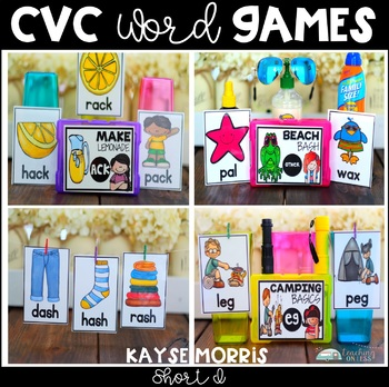 Short I Word Work Activities and Games