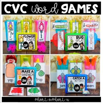 Silly CVC Word Games - Short O & Short U