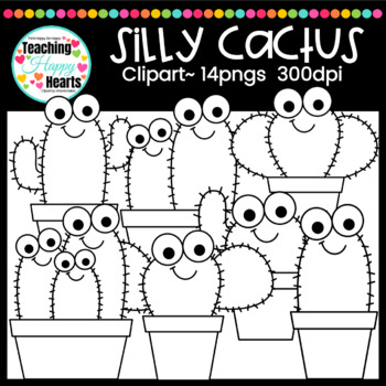 Silly Cactus Clipart