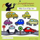 Silly Cars Clip Art