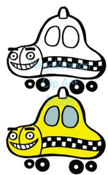 Silly Cars Clip Art