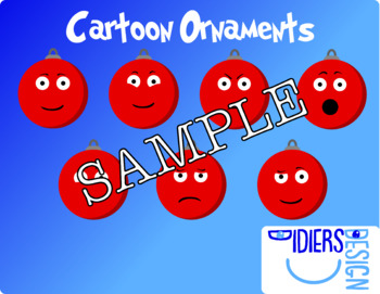 Silly Cartoon Ornaments! Cute and Funny!