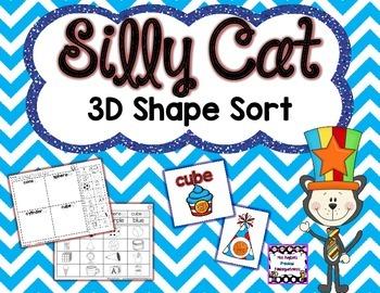 Silly Cat 3D Shape Sort