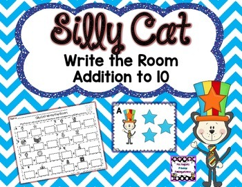 Silly Cat Addition Write the Room
