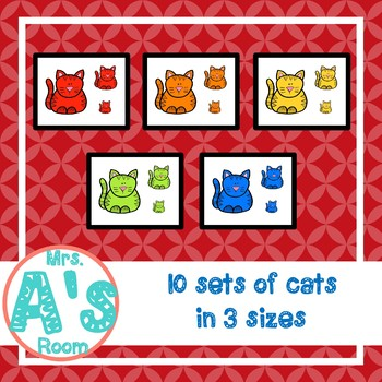 Silly Cat Attributes Circle Time Game