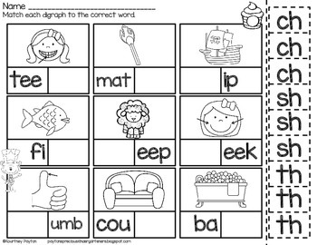 Silly Cat Digraph Clip Game