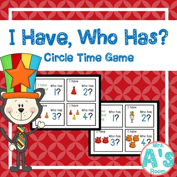Silly Cat I Have, Who Has? Circle Time Game