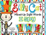 Silly Cat Mixed-Up Sight Words I SPY DIFFERENTIATED Interactive Literacy Center