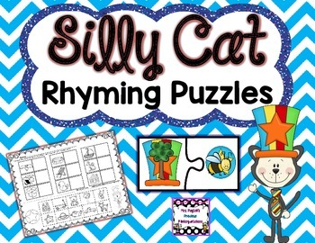 Silly Cat Rhyming Puzzles