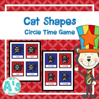 Silly Cat Shapes Circle Time Game
