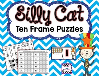 Silly Cat Ten Frame Puzzles