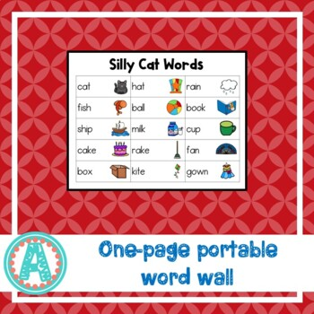 Silly Cat Word Cards