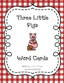 Three Little Pigs Word Cards