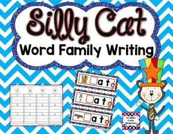 Silly Cat Word Family Writing