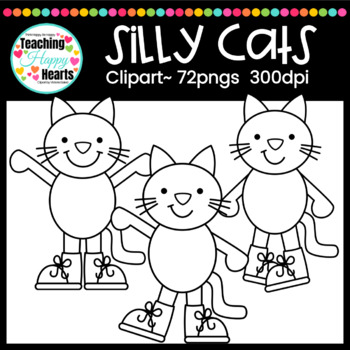 Silly Cats Clipart