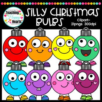 Silly Christmas Bulbs Clipart