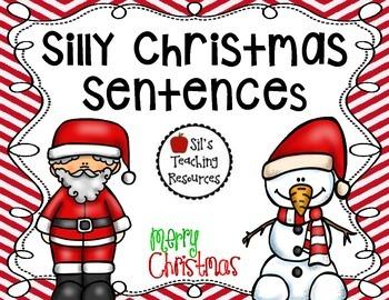 Silly Christmas Sentences by Silvia Garay Sanchez | TpT