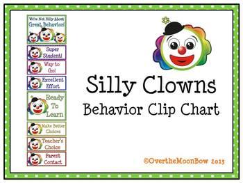 Silly Clowns Behavior Clip Chart