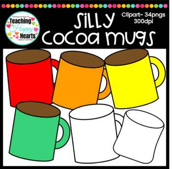 Silly Cocoa Mugs Clipart
