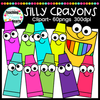 Silly Crayons Clipart