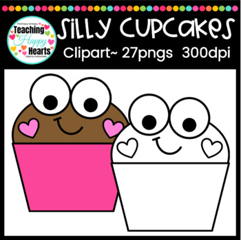 Silly Cupcakes Clipart