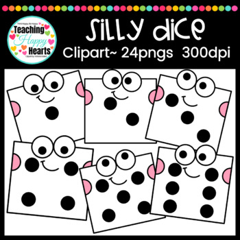 Silly Dice Clipart