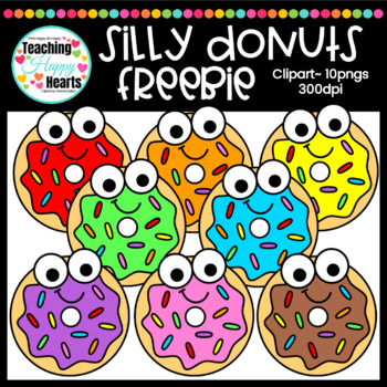 Silly Donuts Free Clipart