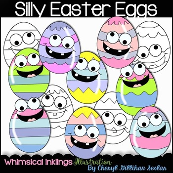 Silly Easter Eggs Clipart Collection