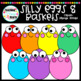 Silly Eggs & Baskets Clipart