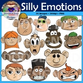Silly Emotional Faces Clip Art (Happy Emotions, Sad, Scared, Angry, Bored)