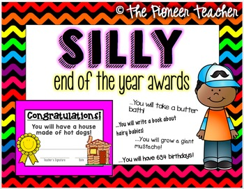 End Of The Year {Silly} Editable Awards