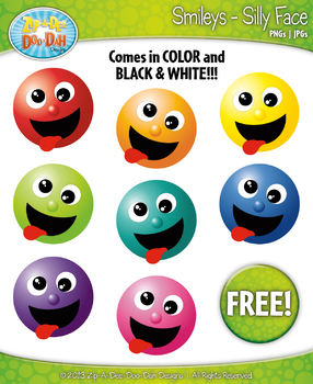 FREE Silly Face Smiley Faces Emotions Clip Art Graphics