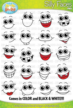 Silly Faces Clipart {Zip-A-Dee-Doo-Dah Designs}