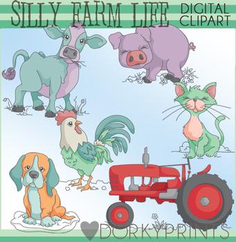 Silly Farm Animal Clipart